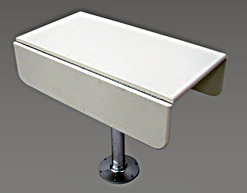 White Polymer Table for boat or yacht