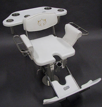 White Polymer Fighting Chair