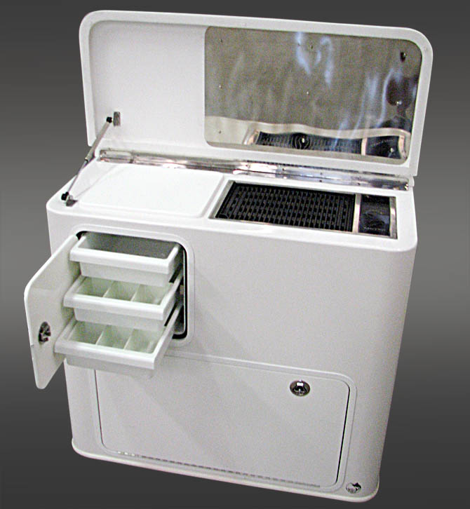 Custom Consoles Manufactured With Tackle Centers Tackle