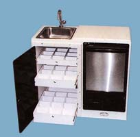 WB Pull out bottle and glass drawers