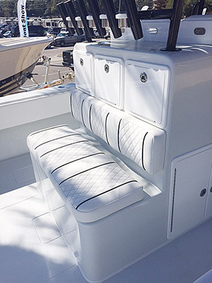 Custom Boat Chair - Livewell - Leaning Posts - Nautical Design