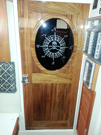 CUSTOM boat doors - teak